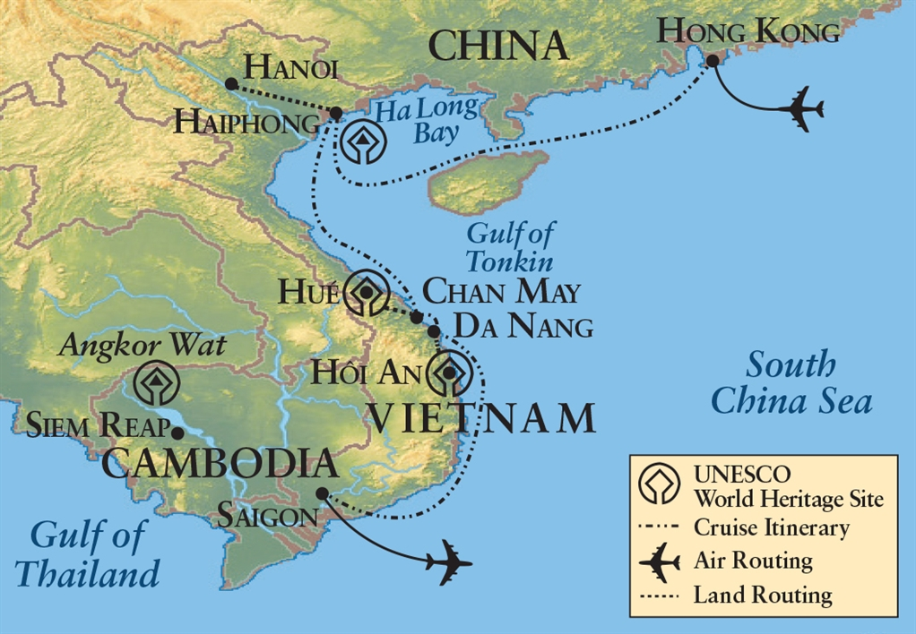 Map Of Asia Gulf Of Tonkin.Northwestern Alumni Association Pearls Of Southeast Asia Hong